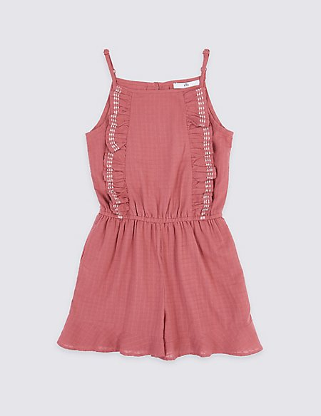 e45438d65b5 Product images. Skip Carousel. Cotton Rich Ruffle Playsuit ...