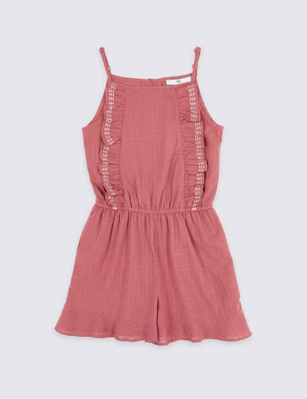 4bee9e02ed0 Cotton Rich Ruffle Playsuit (3-16 Years)