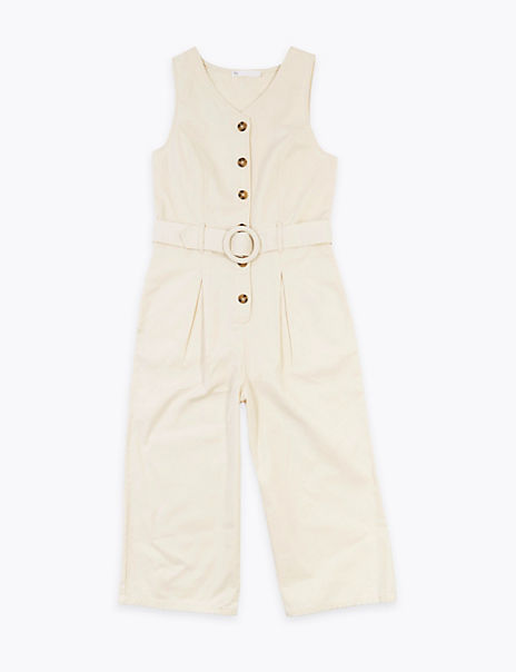 Cotton Belted Jumpsuit (6-16 Years)