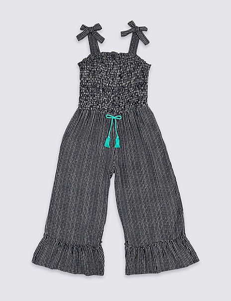 Striped Jumpsuit with Tassel cord (3-16 Years)