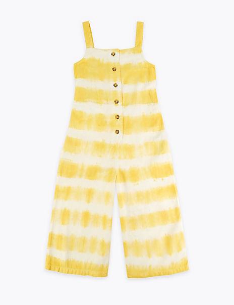 Cotton Tie Dye Jumpsuit (6-16 Years)
