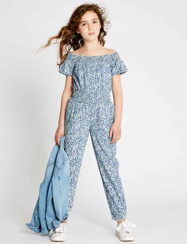 25eae5935817 Pure Cotton Ditsy Print Jumpsuit (3-16 Years)