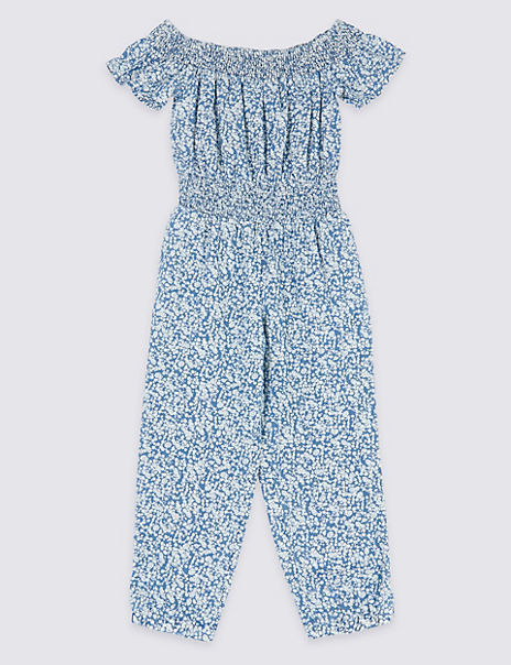 Pure Cotton Ditsy Print Jumpsuit (3-16 Years)