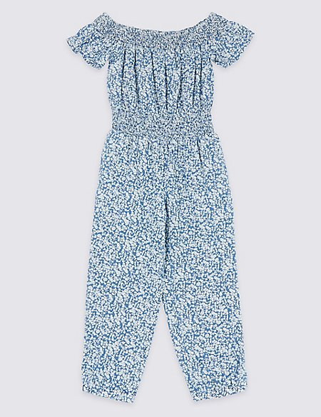 2fdcf63d4eb9 Product images. Skip Carousel. Denim Ditsy Print Jumpsuit (3-16 Years)