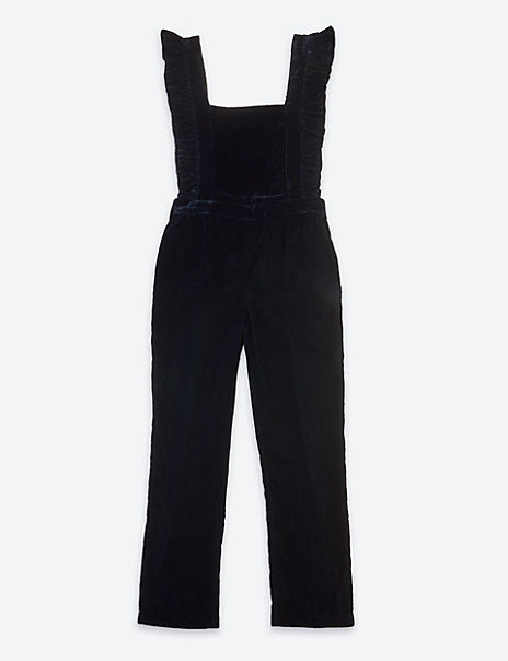 Velvet Ruffle Jumpsuit (3-16 Years)