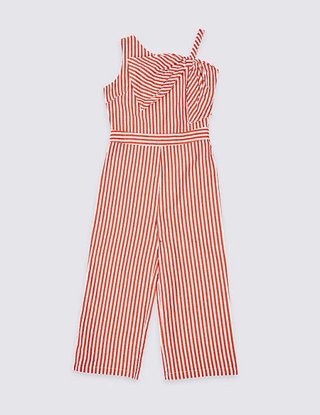 Pure Cotton Bow Jumpsuit (3-16 Years)