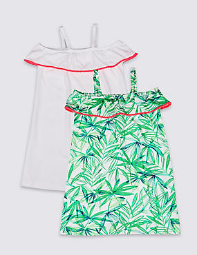 2 Pack Pure Cotton Dresses (3-16 Years)