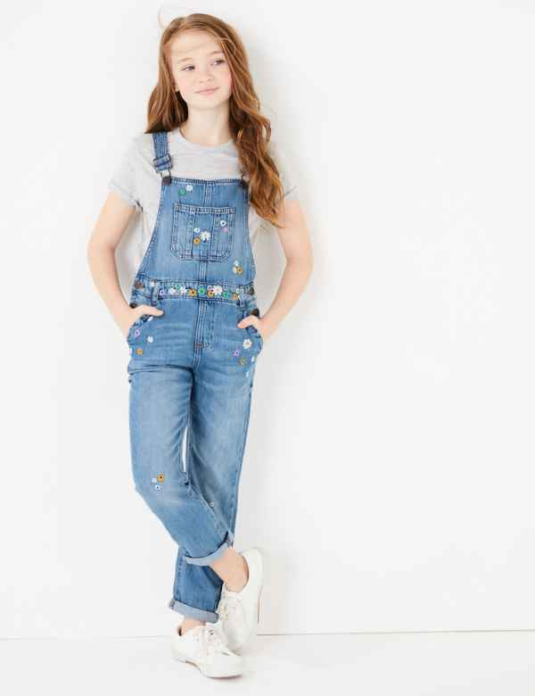 Pinky Girls Straight Legged Jeans Blue Denim Age 10 Years to 16 Years