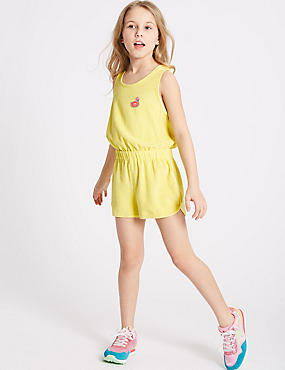 Cotton Rich Towelling Playsuit (3-16 Years)