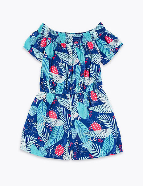 Leaf Print Playsuit (6-16 Years)