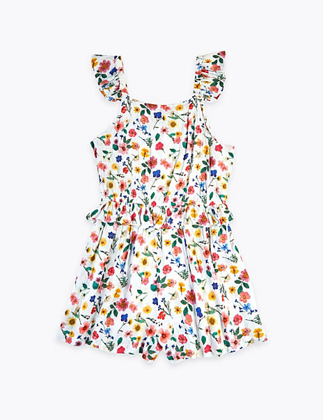 Floral Print Playsuit (6-16 Years)