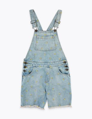 Pure Cotton Embroidered Dungarees (6-16 Yrs)