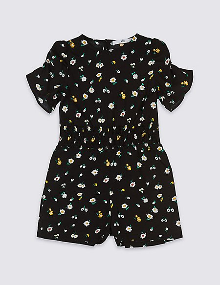 Ditsy Print Playsuit (3-16 Years)