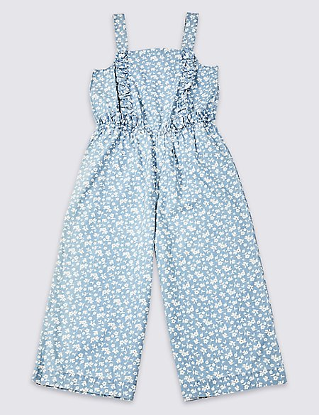 Pure Cotton Denim Jumpsuit (3-16 Years)