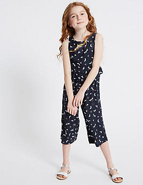 All Over Print Frill Jumpsuit (3-16 Years)