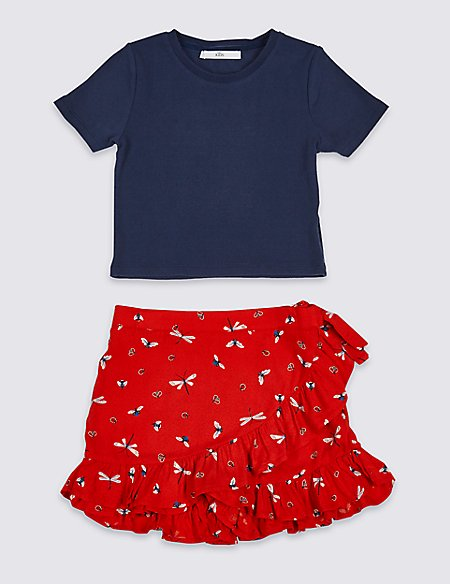 2 Piece Top with Skort Outfit (3-16 Years)
