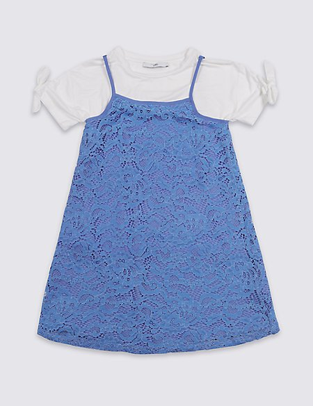 2 Piece Lace Dress & Top Outfit (3-16 Years)