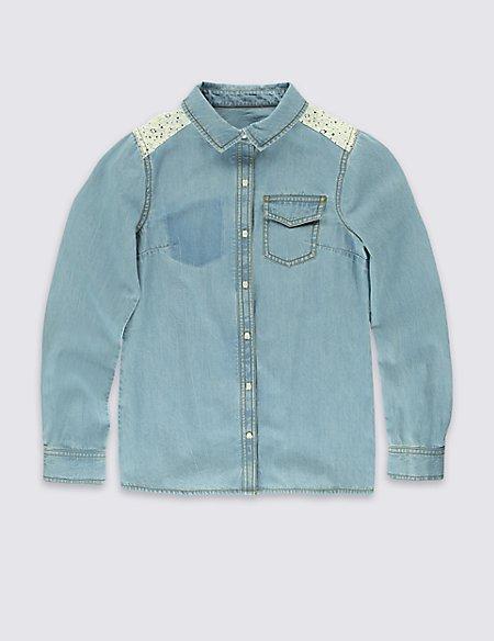 Pure Cotton Denim Shirt (5-14 Years)