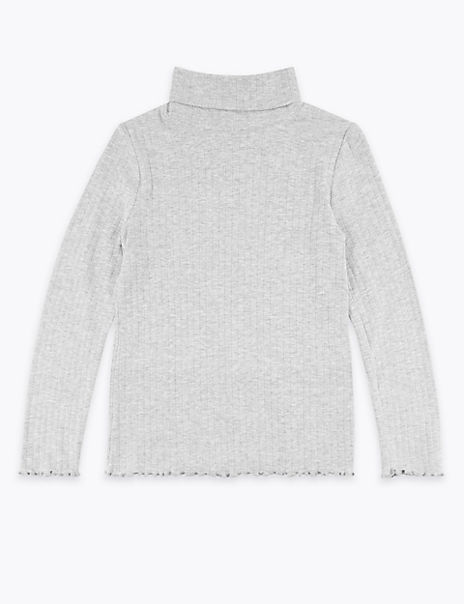 Cotton Roll Neck Top (3-16 Years)