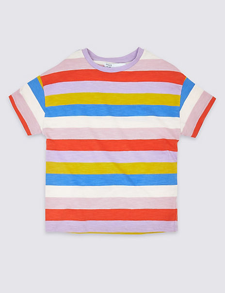 Cotton Striped T-Shirt (3-16 Years)