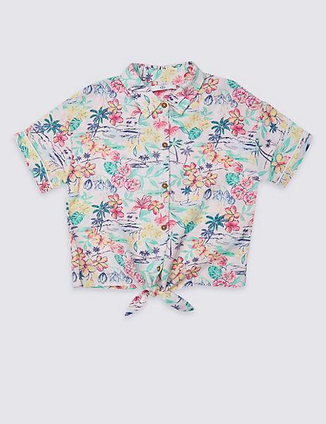 Palm Print Shirt (3-16 Years)