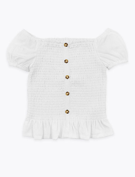 Button Detailed Blouses (6-16 Years)