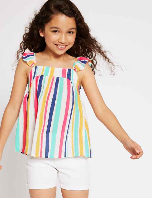 d6d3c2bf85c86 Striped Woven Top (3-16 Years)