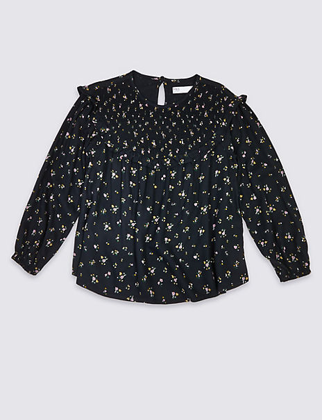 Ditsy Floral Print Blouse (3-16 Years)