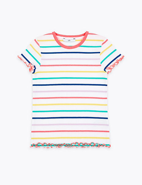 Ribbed T-Shirt (3-16 Years)
