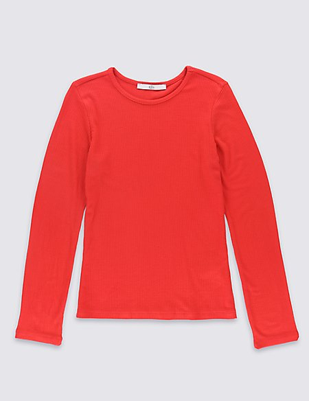 Scoop Neck Long Sleeve T-Shirt (5-14 Years)