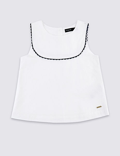 Pure Cotton Frill Top (3-16 Years)