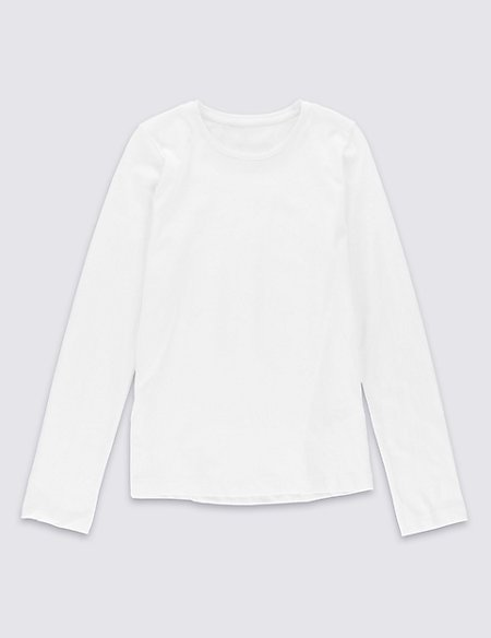 Long Sleeve Top with StayNEW™ (3-14 Years)