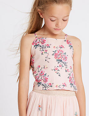 Pure Cotton Cropped Top (3-16 Years)