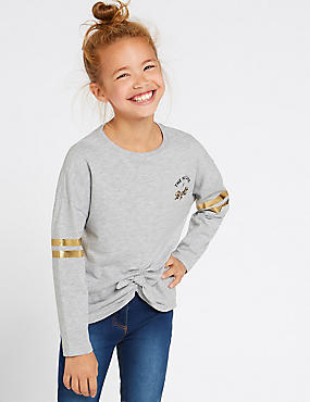 Cotton Rich Slogan Top (3-16 Years)