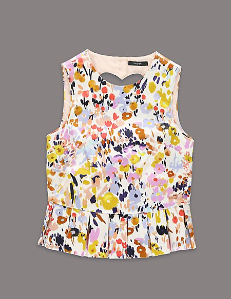 Louise Wilkinson Cotton Rich Abstract Print Top (5-14 Years)