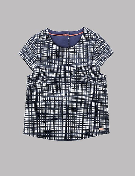 Cotton Rich Checked Shell Top (5-14 Years)
