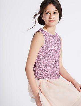 Sequin Sleeveless Top (3-16 Years)