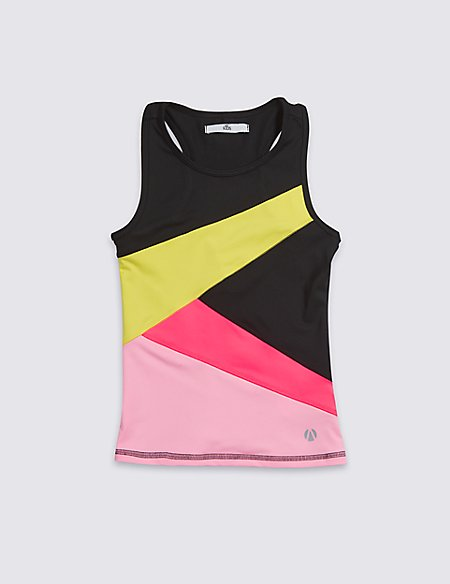 Colour Block Vest Top (3-16 Years)