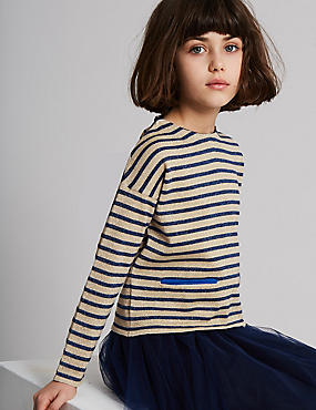 Cotton Rich Lurex Knitted Top (3-16 Years)