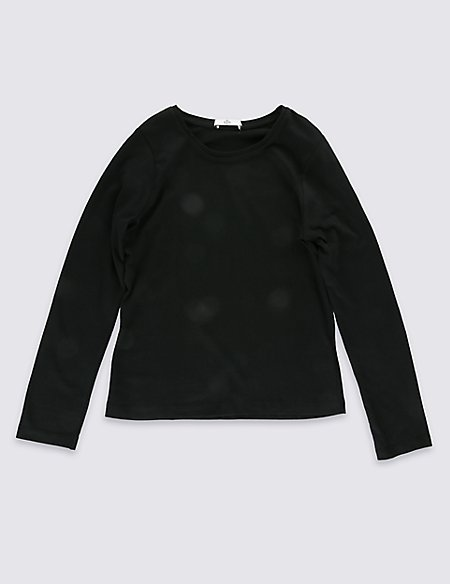Pure Cotton Long Sleeve T-Shirt StayNEW™ (3-14 Years)