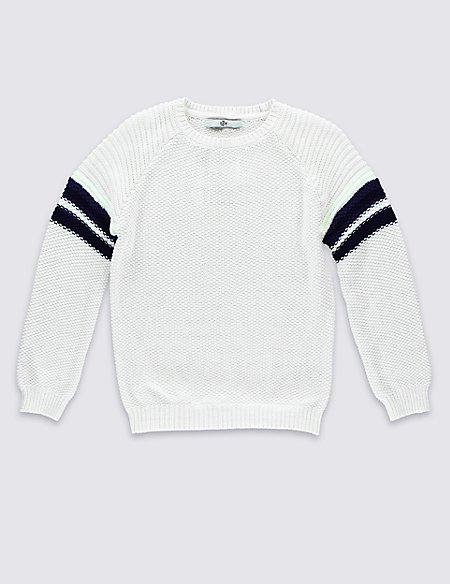 Pure Cotton Lightweight Jumper with StayNEW™ (5-14 Years)