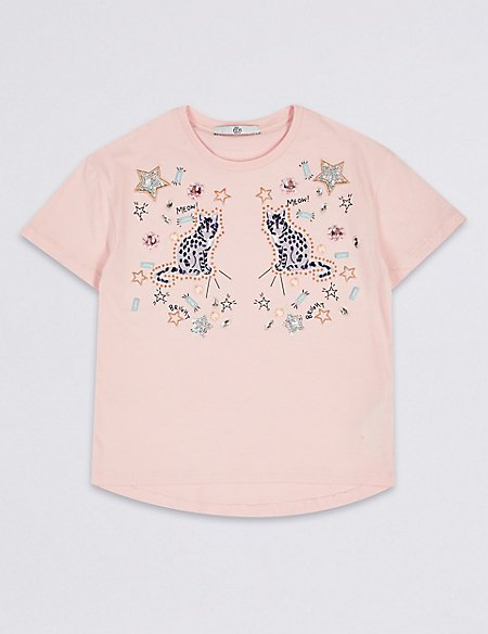 Pure Cotton Cat Top (3-16 Years)