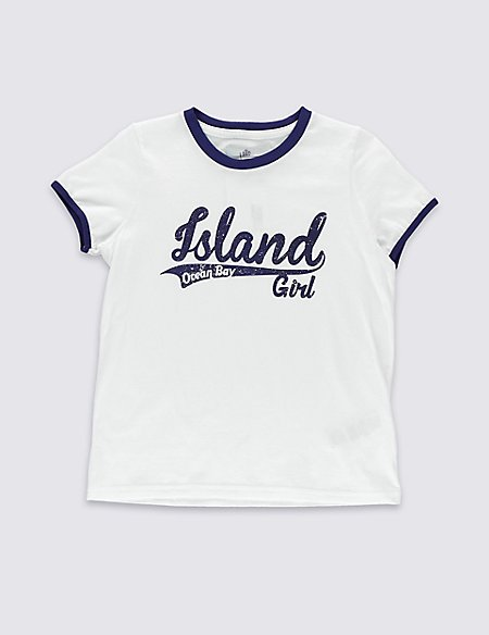Pure Cotton T-Shirt (5-14 Years)
