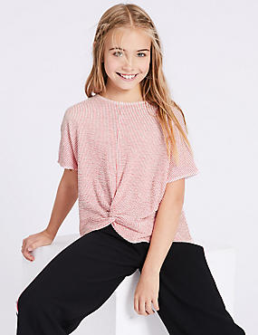 Striped Knot Tie Top (3-16 Years)