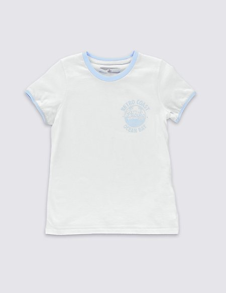 Pure Cotton Sporty T-Shirt (5-14 Years)
