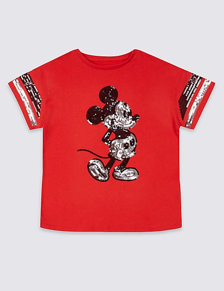 Mickey Mouse™ Pure Cotton T-Shirt (3-16 Years)