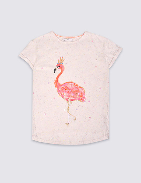 Cotton Rich Sequin Top (3-14 Years)