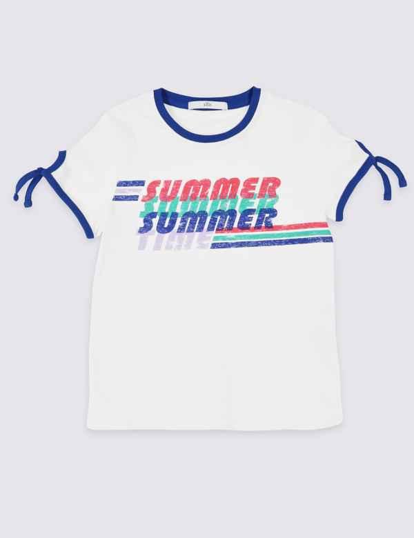 fb433730b786b Pure Cotton Summer T-Shirt (3-16 Years)
