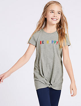 Cotton Rich Longline T-Shirt (3-16 Years)