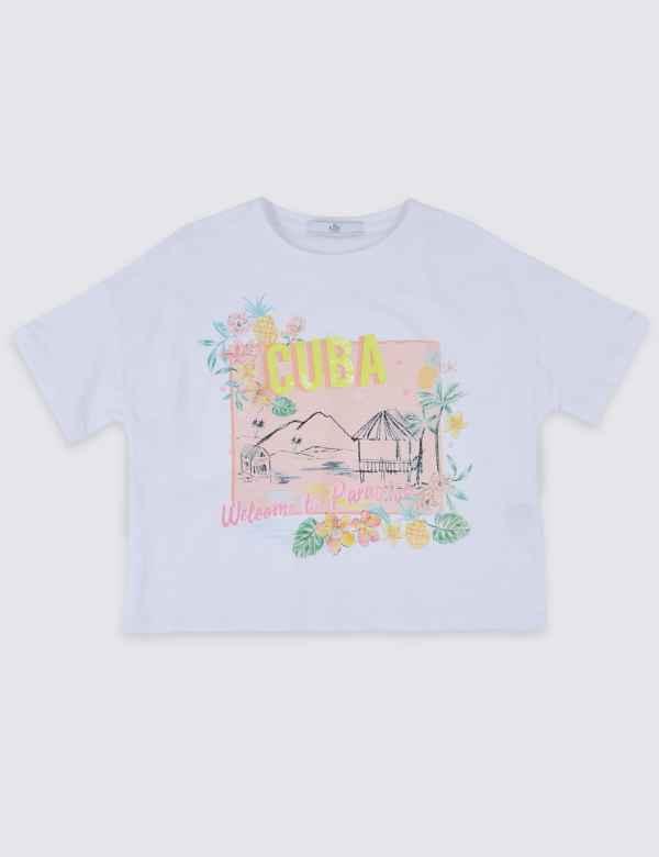 7f95a3ad83f Pure Cotton Cuba T-Shirt (3-16 Years)